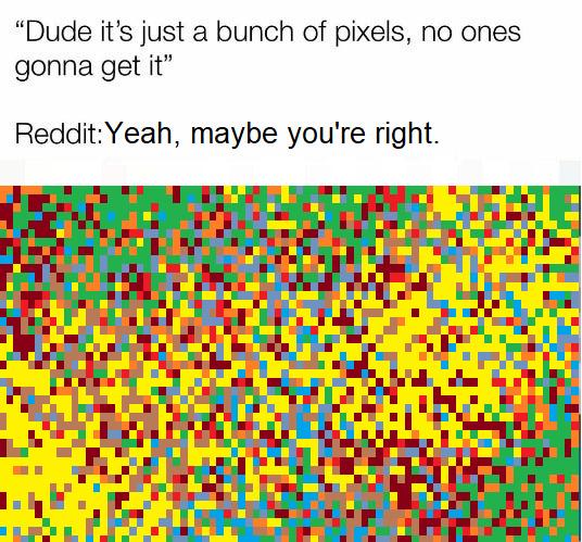 Un monton de pixeles - meme
