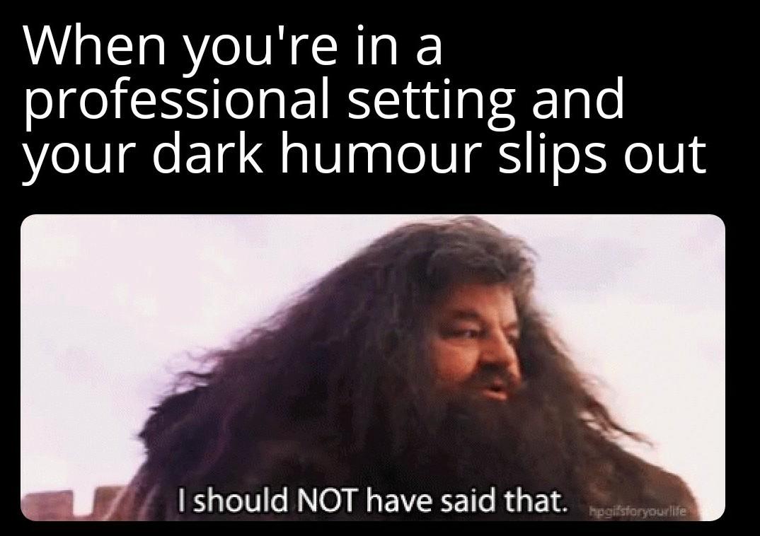 Shouldn't have said that - meme