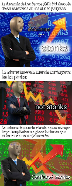 Stonks o no stonks, esa es la cuestión - meme