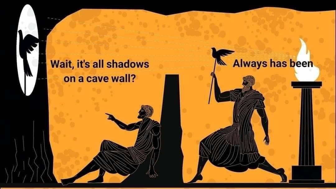 Plato was lit to - meme