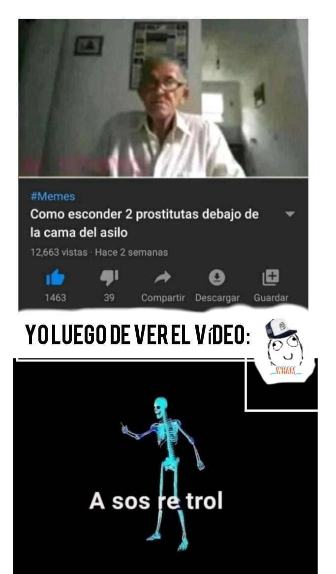 Meme sin gracia, entre al vídeo que iba a salir un jumpscare xD