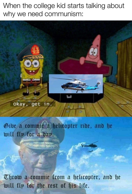 Helicopter rides go brrrr - meme