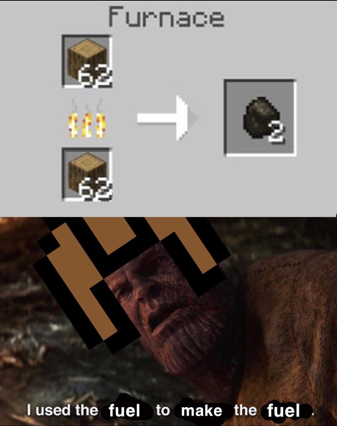 thanos in minecraft - meme
