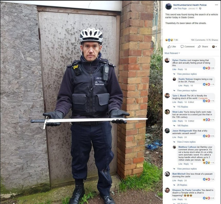 imagine being British police in the current year - meme