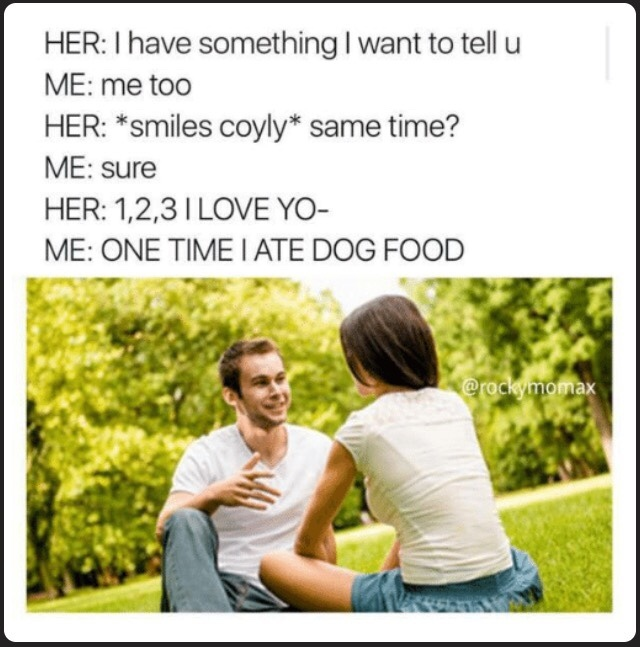 title is dog Food - meme