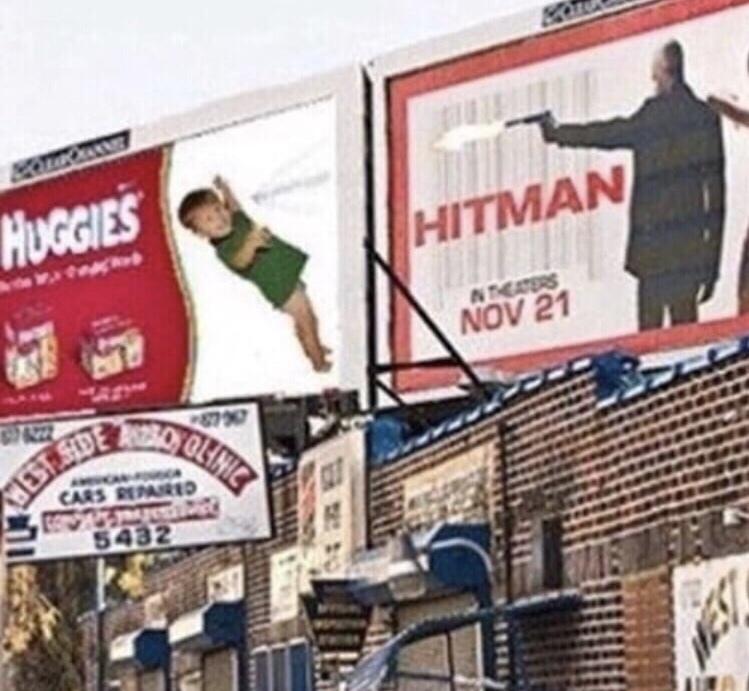 Hitman v Huggies - meme