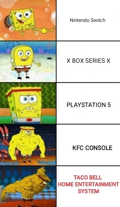 Fast food console wars. - meme