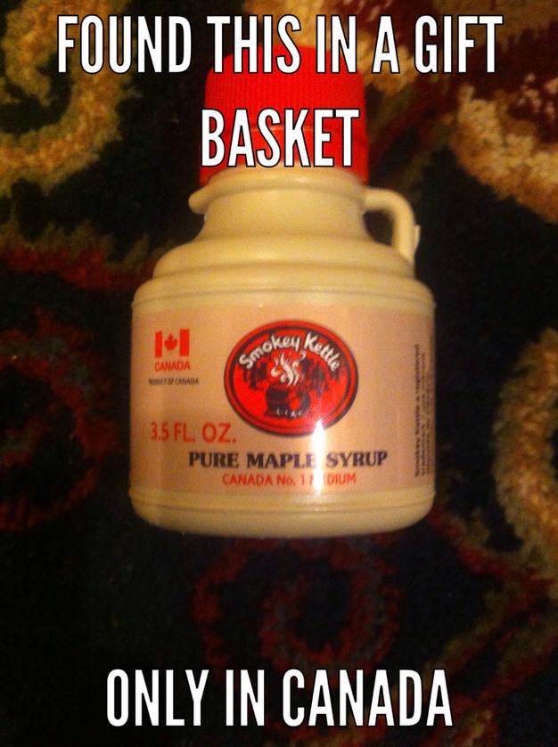 Mini bottle of maple syrup - meme