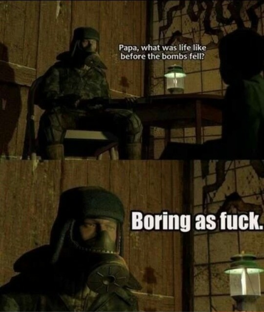 Boring as fuck - meme