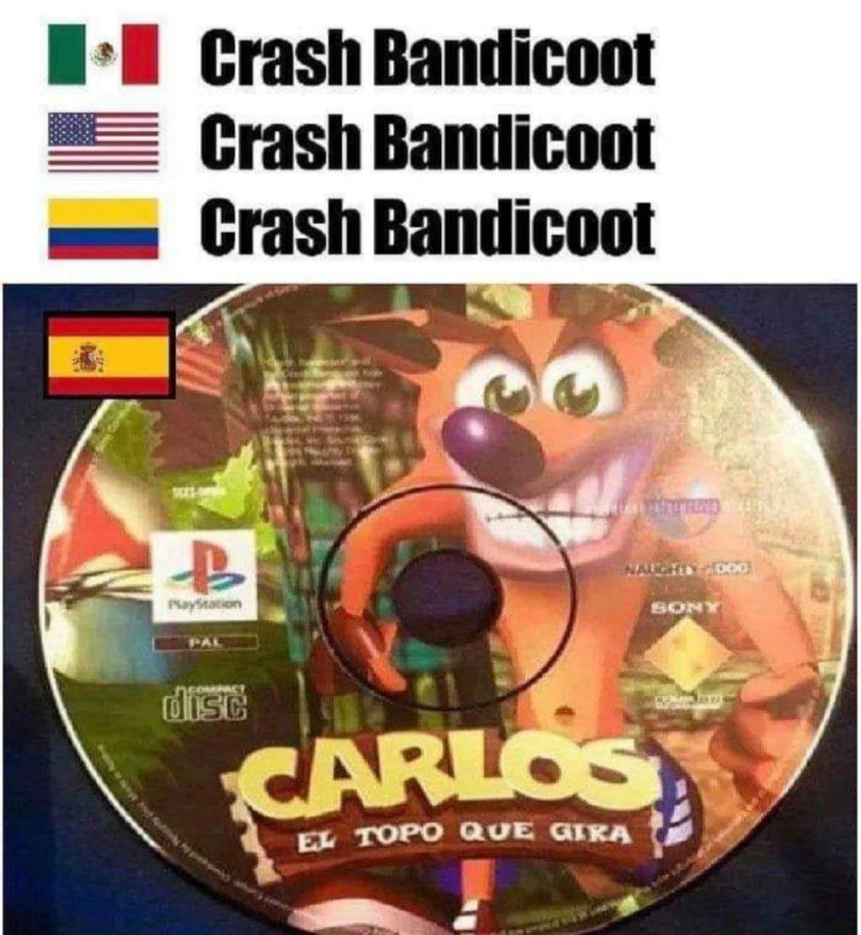 Carlos el topo que gira - meme