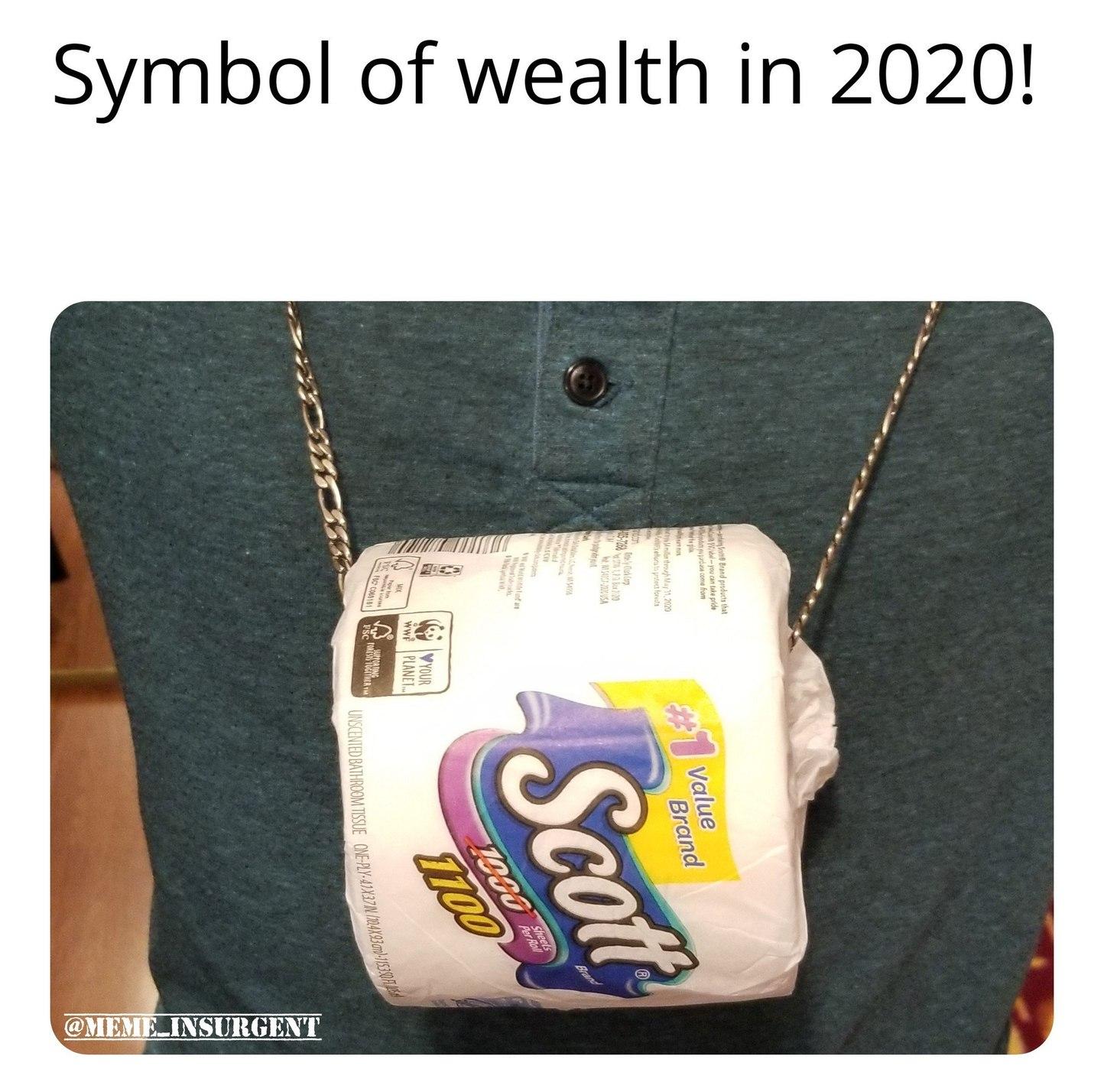Folks be rich! - meme