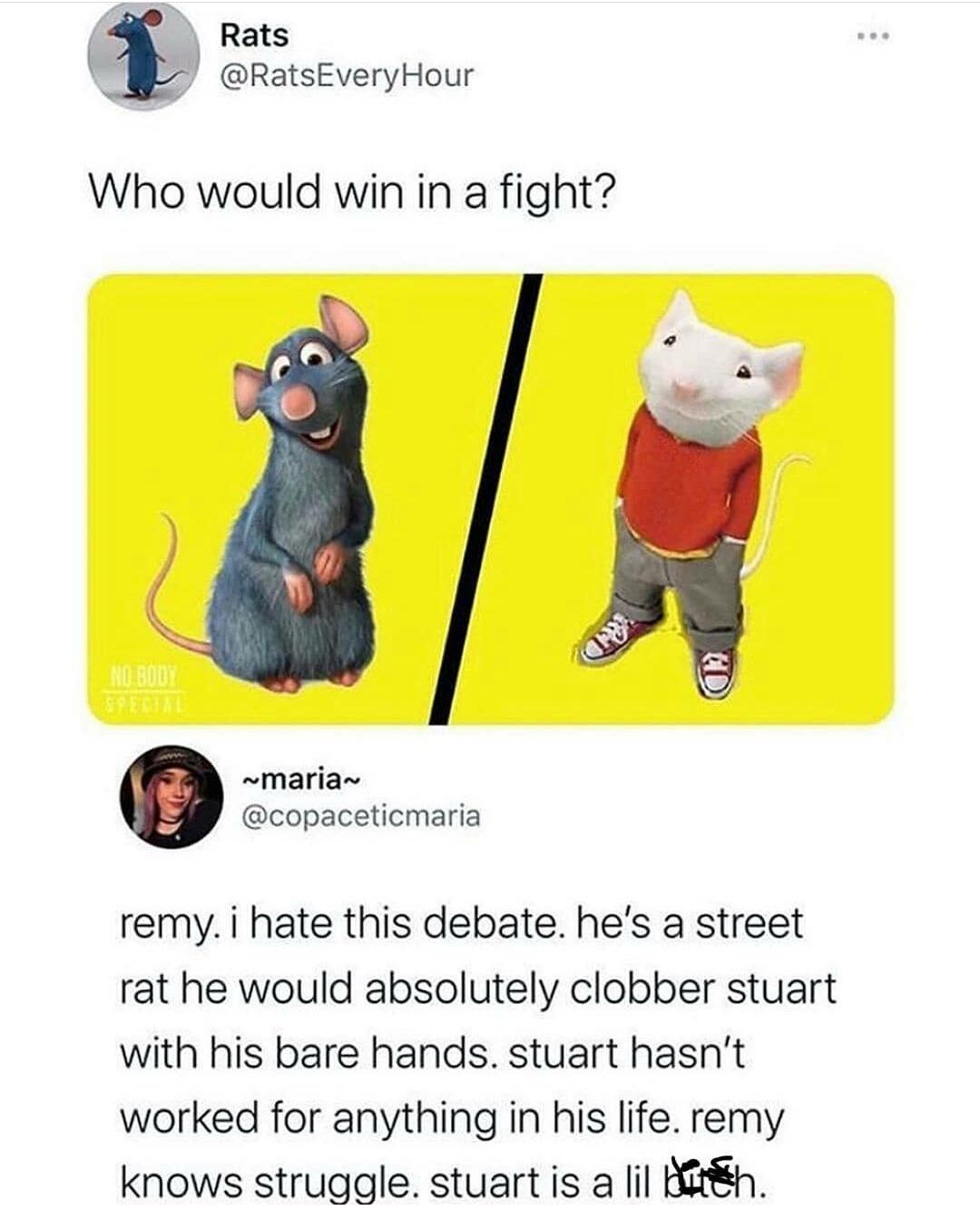 Stuart has well defined body parts though - meme