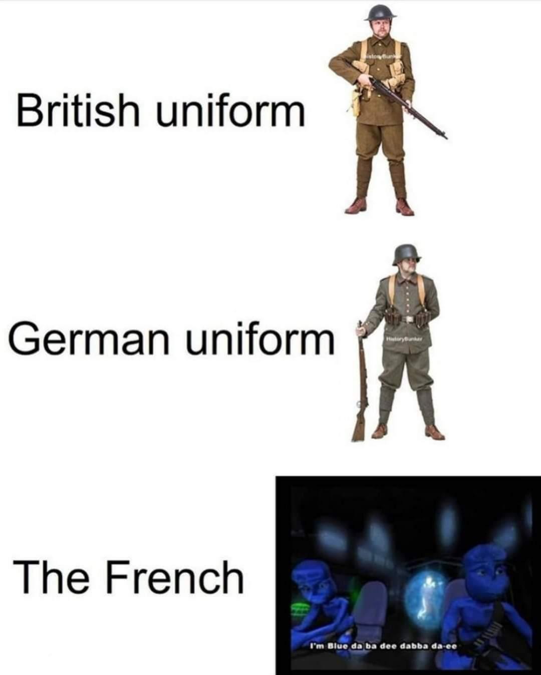 I'm blue White red - meme