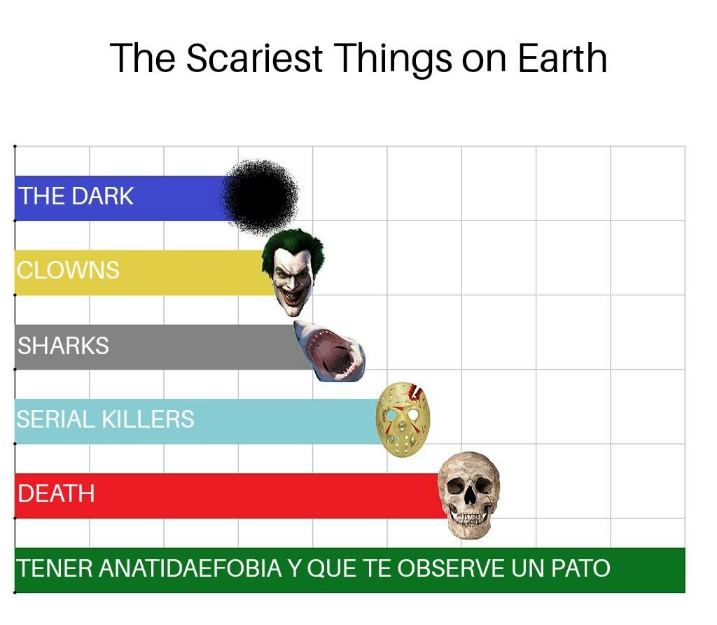 Contexto: La anatidaefobia es el miedo a que te observe un pato - meme