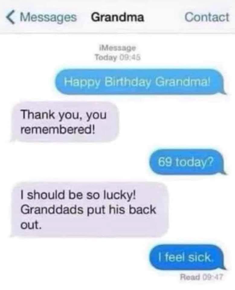 Grandma deserves birthday sex to - meme