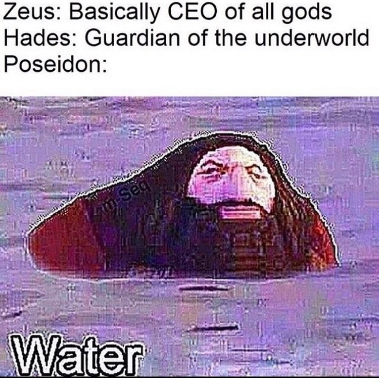 there's a lot of water tho - meme