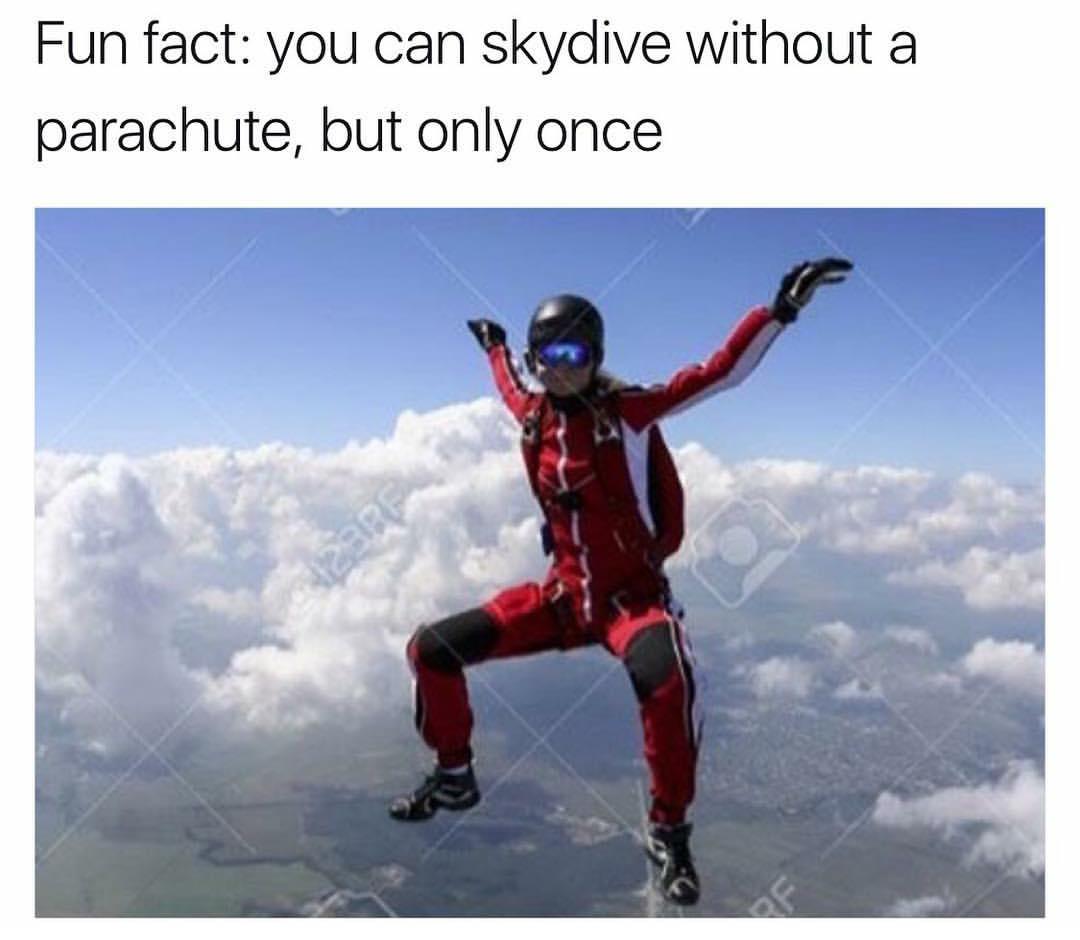 I love skydying - meme