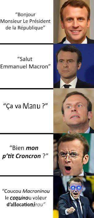Version macron - meme