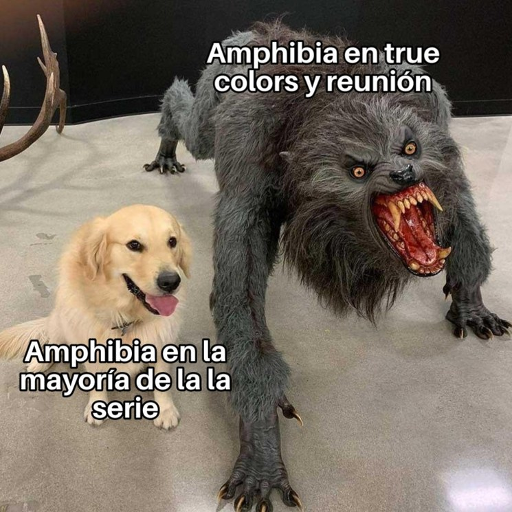 En esos episodios las cosas son más turbias (en especial en true colors) - meme