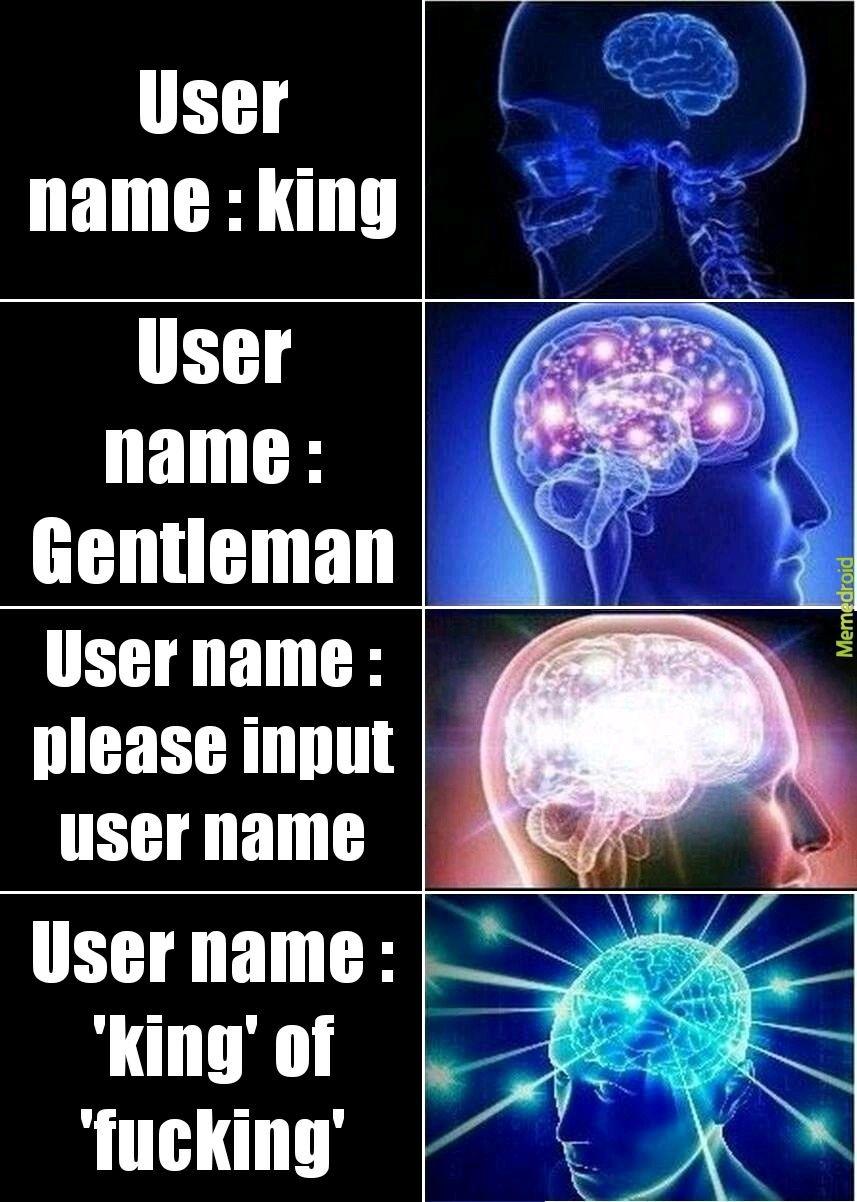 User name, please - meme