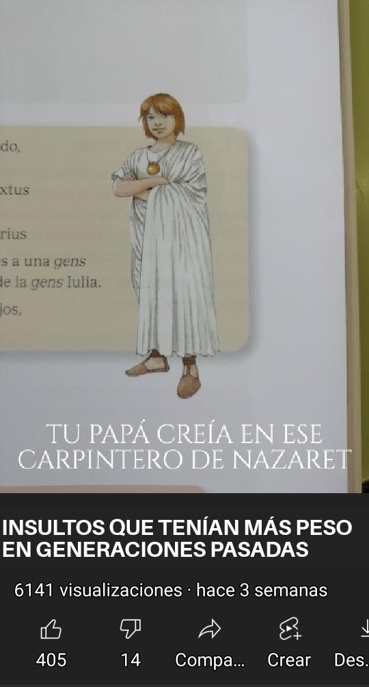 Me lo encontré en mi libro de cultura clásica - meme