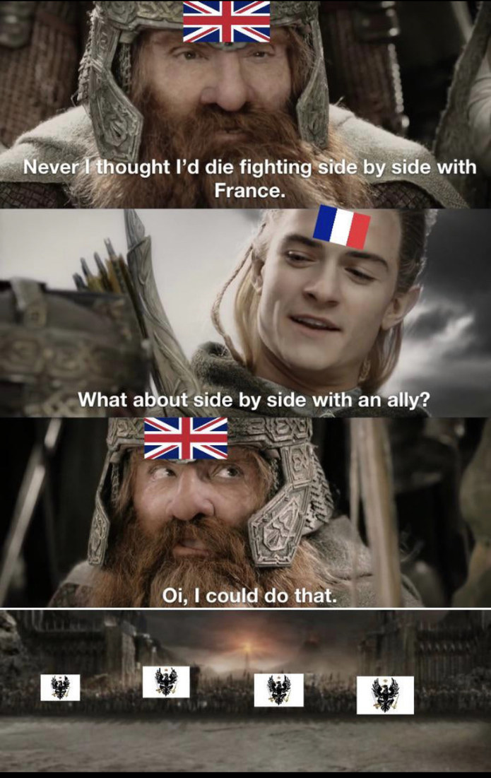 France And British - meme
