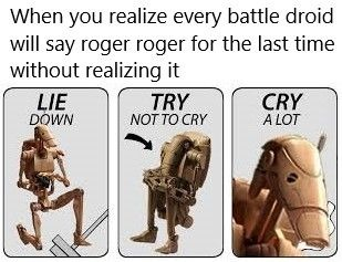 May your last Roger Roger be in the far future - meme