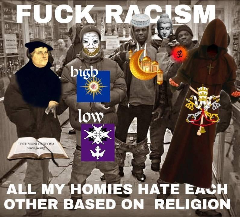 Fuck rasism. - meme