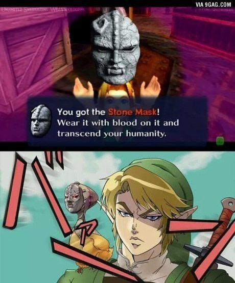 Obtuviste la máscara de piedra *trasciende su humanidad* - meme