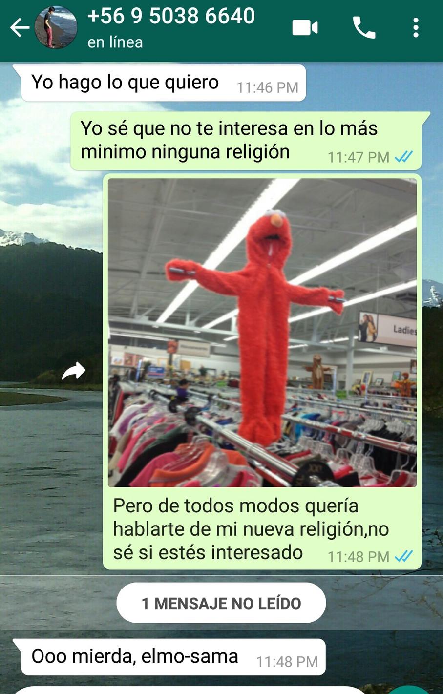 Elmo sama murió por nuestros pecados - meme