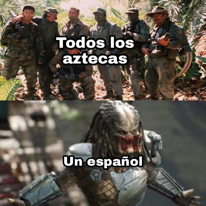 Nos madrearon los españoles ole tio chaval - meme