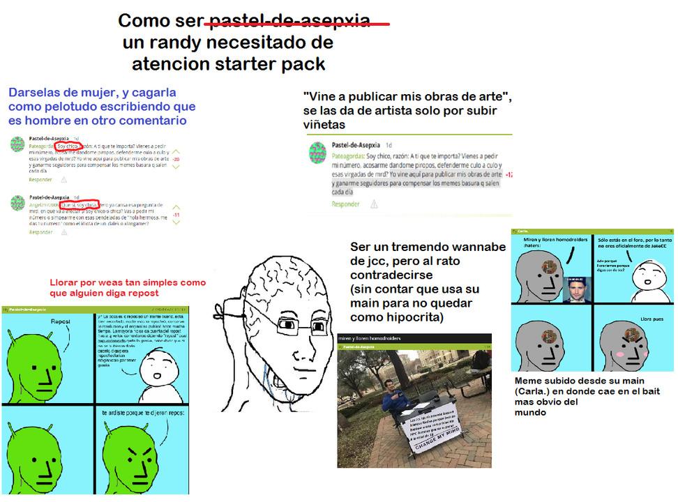 Pastel de autismo en resumen (Pd: No pude encontrar las viñetas de jcc, seguro las borraron) (Pd 2: Chupala Carlos.) - meme