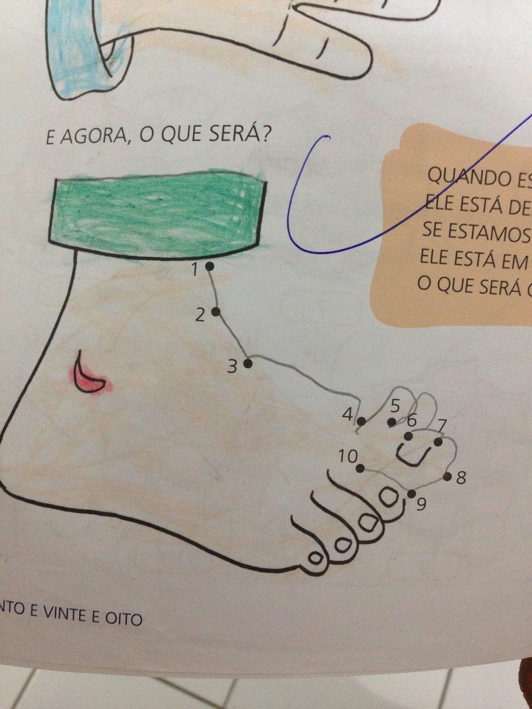 desenhando o pé da vovó - meme