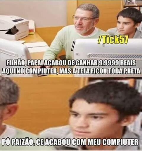 Paizao manja dos compuiter - meme