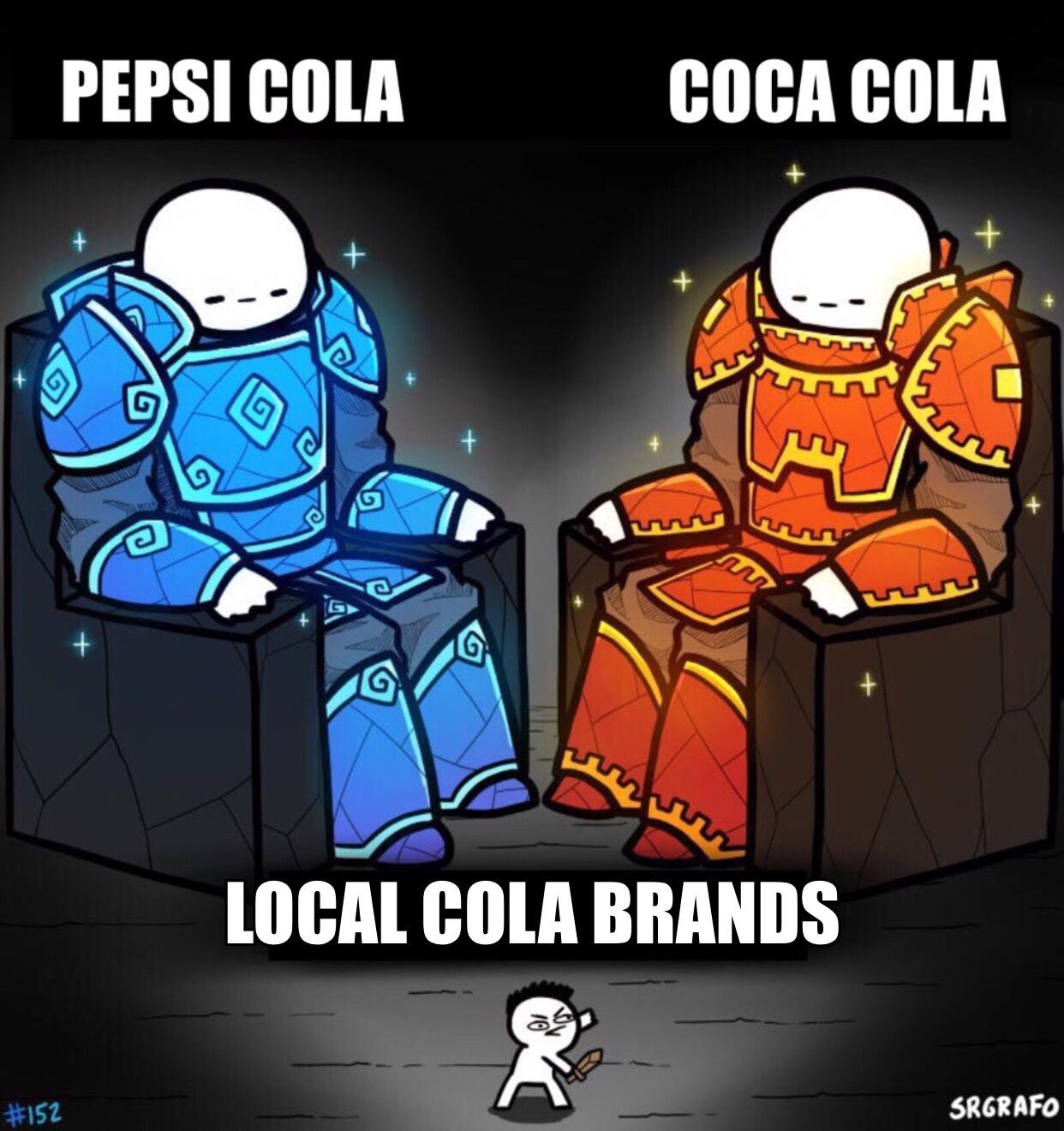 Local Cola Brands - meme