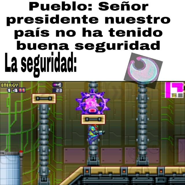 El juego es Metroid Fusion - meme