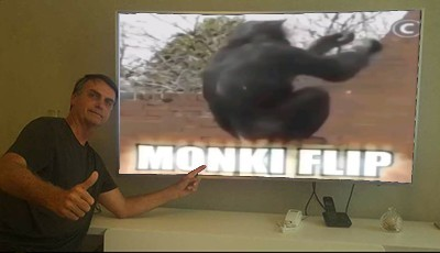 Até o mito acha o monki flip foda - meme