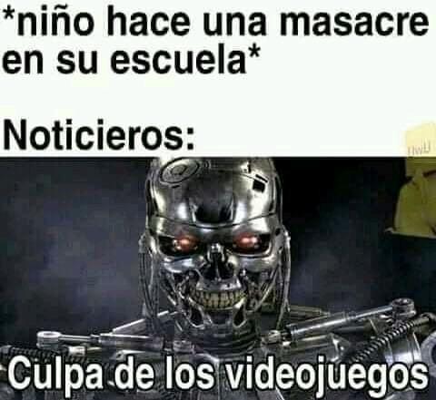 Culpa de los videojuegos - meme