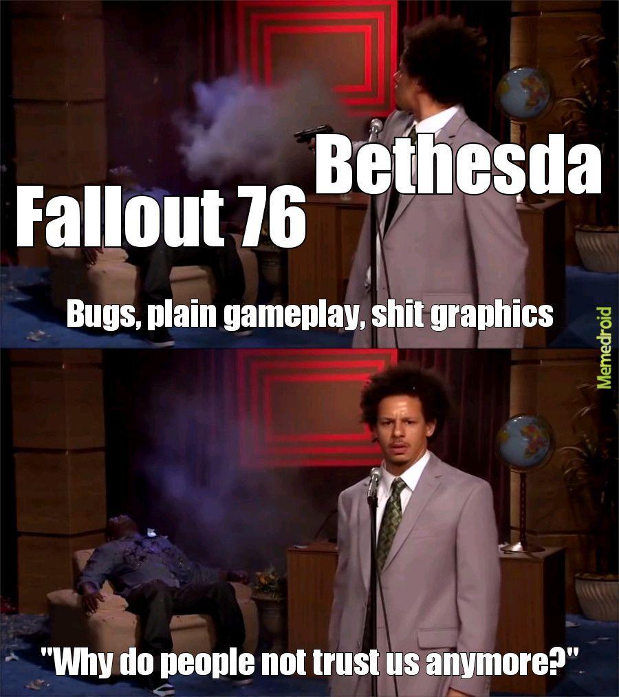 Bethesda has fallen - meme