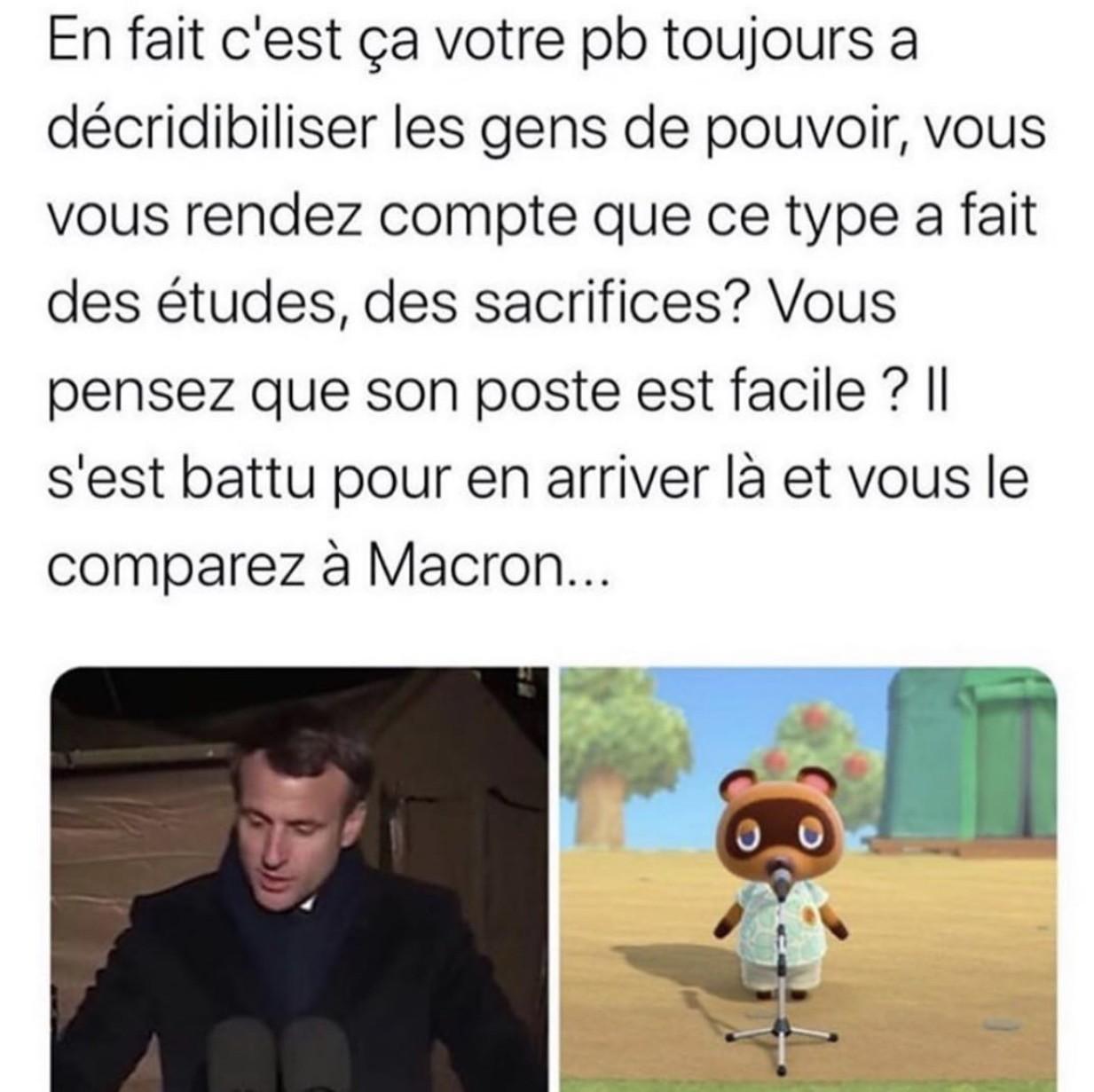 Tom Nook n'est pas Macron - meme