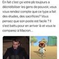 Tom Nook n'est pas Macron