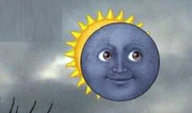 Eclipse desde Chile sacado con mi camara 4K ultra HD - meme