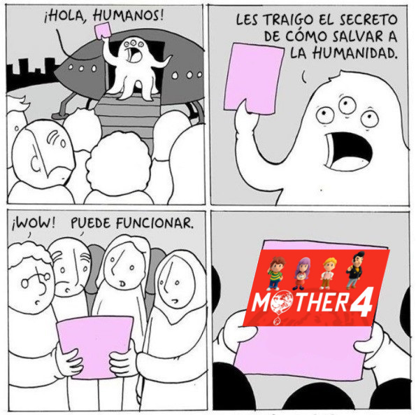 la salvacion de los fans de mother - meme