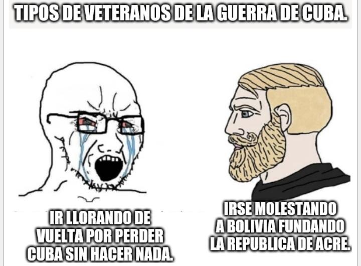 Bueno, en mi anterior meme pregunté qué memes históricos querían, salió Latinoamérica (solo hubo un voto así que ganó por mayoría absoluta). El problema es que de historia latinoamericana y Americana no se demasiado así que tendré que aprender.
