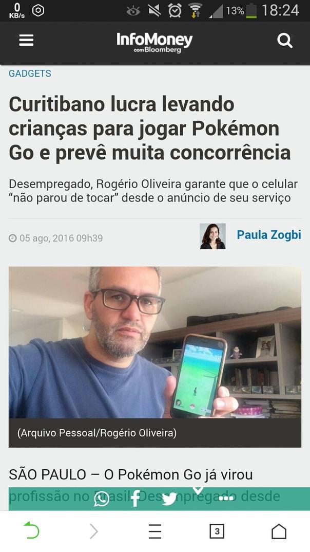 enquanto uns choram outros vendem lenço... #pokemonGo - meme