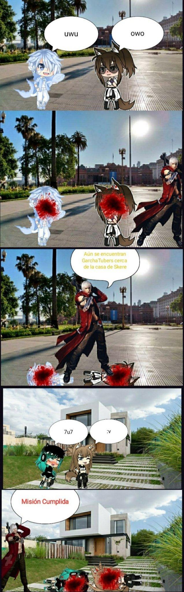 Dante vs GarchaTubers 2 - meme
