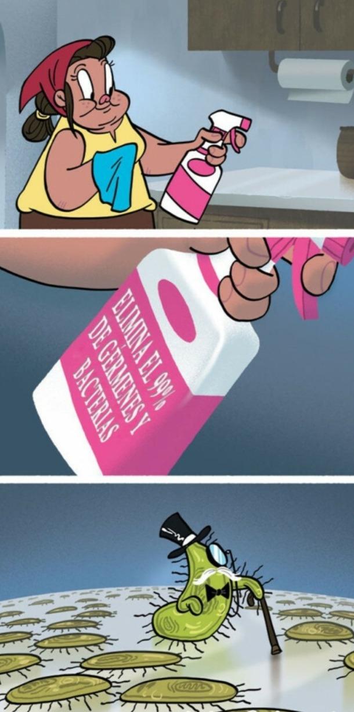 Elimina el 99% de germenes y bacterias - meme
