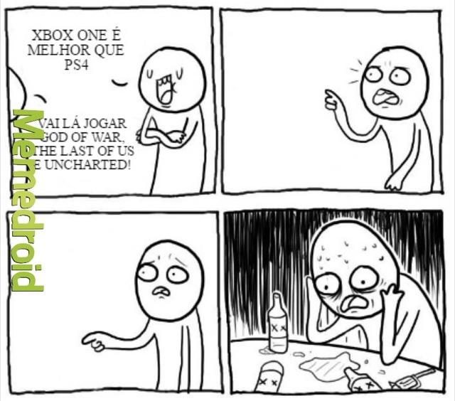 PS4 > Xbox One... Exclusividade é outro nível! - meme