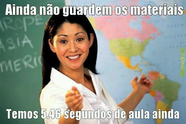 Professora zueira - meme