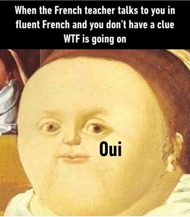 Title parle français bien - meme